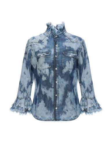 DON'T CRY Denim Shirt in Blue