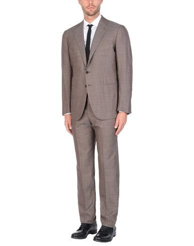 CESARE ATTOLINI Suits in Cocoa