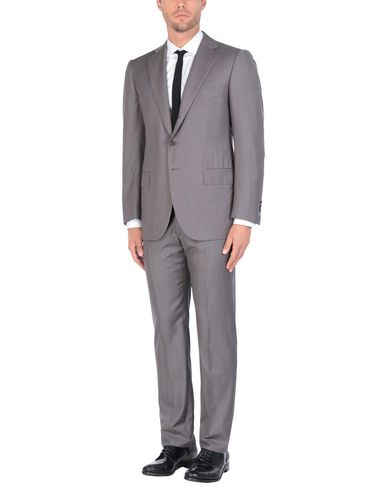 CESARE ATTOLINI Suits in Lead