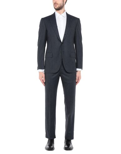 CESARE ATTOLINI Suits in Slate Blue